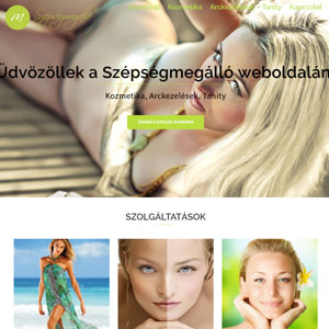 Szépségszalon weboldala